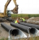 Triple Pipe culvert installation.