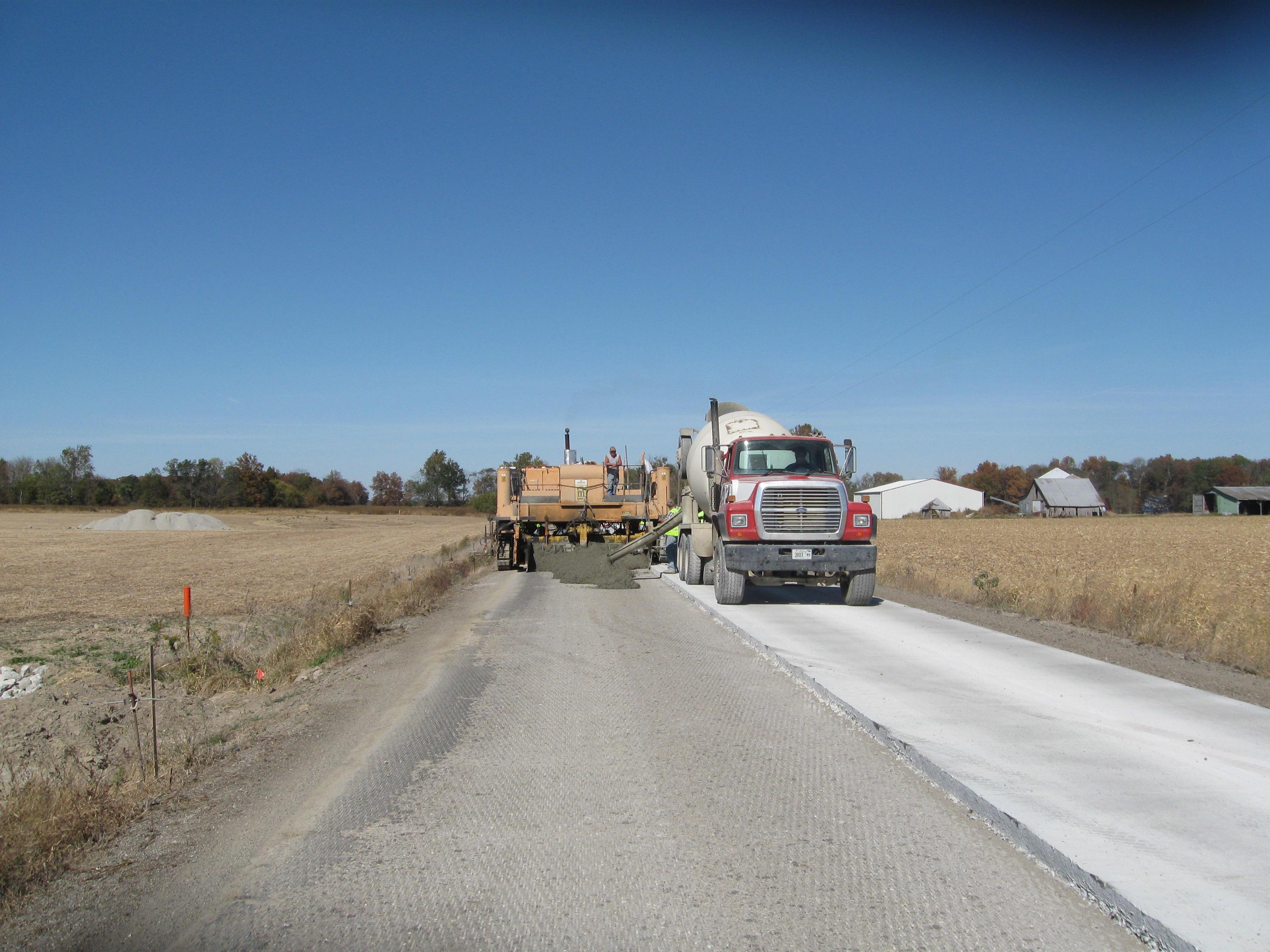 Portland Cement Roads : Beniach construction company inc public works